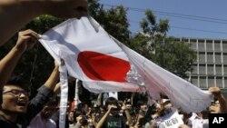 Антияпонские выступления в Пекине, Китай. 15 сентября 2012 года