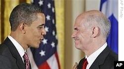 Што било кажано за името на средбите на Папандреу во Вашингтон?