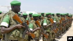 Militares do Uganda na missão da União Africana na Somália
