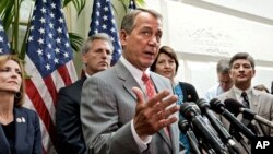 Predsednik Predstavničkog doma, Džon Bejner pred početak glasanja o opozivu zakona o zdravstvenoj reformi, 11. jul 2012.