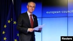 FILE - European Council President Herman Van Rompuy