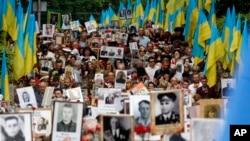 Митинг в Киеве в честь Дня победы, 9 мая 2018 года