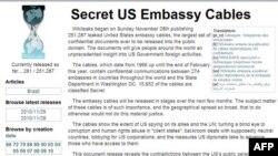 Các tài liệu này là một phần của khối lượng thông tin mật khổng lồ được đăng tải trên trang web Wikileaks