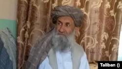 این تصویر ملا محمد حسن آخند، رییس الوزرای کابینه طالبان از سوی این گروه در رسانه های اجتماعی نشر شده است.