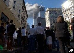 Shambulizi la Kigaidi New York katika Jengo la World Trade Center, Septemba 11, 2001.