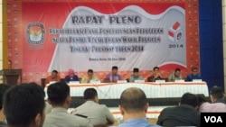 Prabowo-Hatta unggul dalam rekapitulasi perhitungan suara Pilpres di Aceh seperti dilaporkan Komisi Independen Pemilihan Aceh di Banda Aceh (18/7).