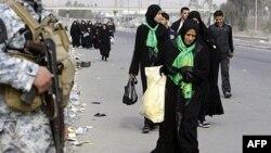 Người Shia hành hương tới Karbala để dự buổi lễ kết thúc 40 ngày tưởng nhớ Imam Hussein