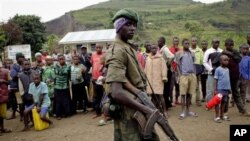 Anggota kelompok pemberontak M23 di Bunagana, Kongo. (Photo: AP)