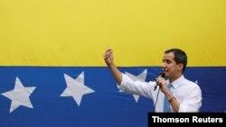 Foto de archivo del presidente interino de Venezuela, Juan Guaidó, durante una manifestación en Caracas, Venezuela.