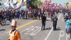 «Марш за справедливость» в Лос-Анджелесе