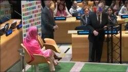 Malala, mensageira da paz