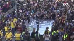 """香港""""國際人權日""""大遊行民陣稱80萬人上街"""