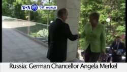 VOA60 World PM- German Chancellor Angela Merkel meets with President Vladimir Putin to discuss ceasefires in Ukraine and Syria