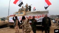 Este avance es el último de la serie de conquistas del ejército iraquí, que cuenta con el respaldo de Estados Unidos.