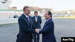 Azərbaycan prezidenti İlham Əliyev və Fransa prezidenti Fransua Oland