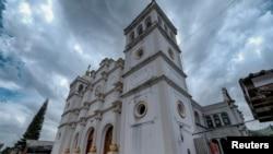 A view of the Catholic church in El Paraiso, Honduras July 24, 2021.