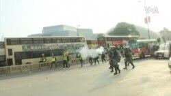 香港周日抗議再爆激烈警民衝突