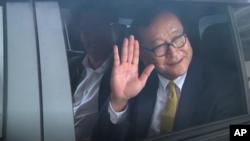 ကေမာၻဒီးယား အတိုက္အခံ ေခါင္းေဆာင္Sam Rainsy