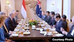 Pertemuan bilateral antara pemerintah Indonesia dan Australia di Vientiane, Laos, Kamis 8 September 2016 (foto: Biro Pers Kepresidenan).