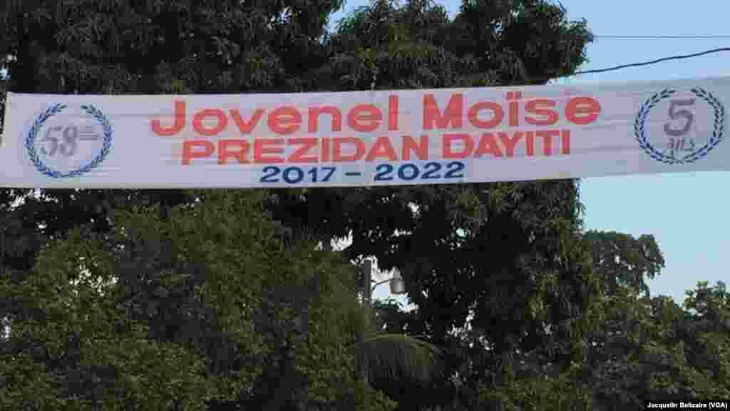Puerto Príncipe, la capital haitiana se prepara para la toma de mando del presidente electo Jovenel Moïste, el martes, 7 de febrero, de 2017.