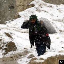 کابل میں موسم سرما کی پہلی برفباری