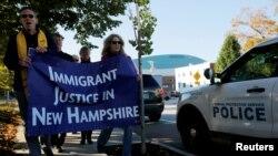 Người biểu tình kêu gọi bảo vệ di dân