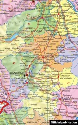 Dağlıq Qarabağın xəritəsi