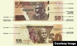 New Zimbabwe $50 note introduced by the Reserve Bank of Zimbabwe. (Photo/Credit: RBZ)