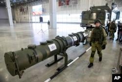 러시아 국방부 지난달 23일 9M729 신형 순항미사일을 공개했다.