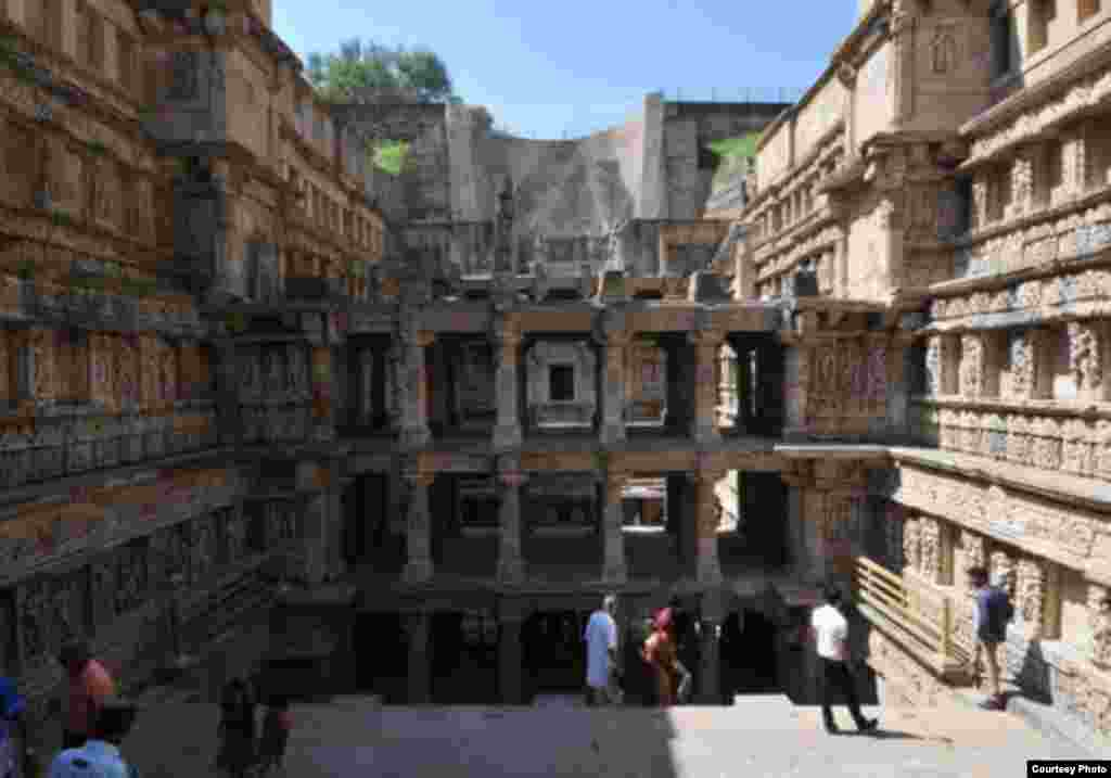 Rani-ki-Vav (the Queen's Stepwell) in Gujarat, India, is located on the banks of the Saraswati River and was initially built as a memorial to a king in the 11th century AD. (UNESCO)