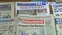 Manchetes Africanas 23 Outubro 2017: OS sinais contraditórios de Odinga