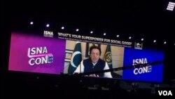عمران خان ویڈیو لنک کے ذریعے اثنا کنونشن سے خطاب کر رہے ہیں