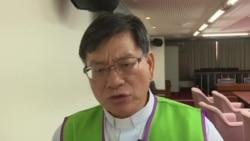台湾基督教牧师王进财2017年9月1日批评政府对外籍教士不够宽厚原声视频(美国之音黎堡摄)