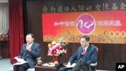 台湾海基会年终回顾记者会现场