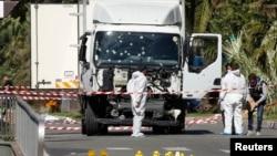 Camião usado no ataque