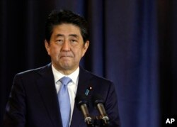 Japanese Prime Minister Shinzo Abe in Argentina Tuesday.
