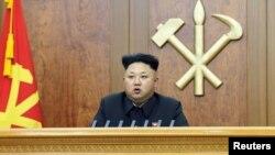 지난 1일 신년사를 발표하는 김정은 북한 국방위원회 제 1위원장의 모습 (자료사진)