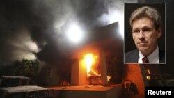Kekerasan di gedung konsulat AS yang menewaskan 4 diplomat termasuk Dubes AS Christopher Stevens (foto: insert), merupakan lingkaran kekerasan dalam hubungan Barat dan dunia Islam.