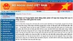 Việt-Trung kết thúc vòng đàm phán đầu tiên về hợp tác trên biển