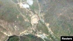 Ảnh vệ tinh địa điểm thử nghiệm hạt nhân Punggye-Ri của Triều Tiên chụp ngày 14/5/2018.