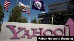Logo của Yahoo tại trụ sở chính ở Sunnyvale, California.