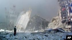 Bayan rushewar tagwayen benayen cibiyar kasuwanci ta duniya wato World Trade Center
