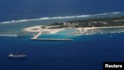 남중국해 스프래틀리 군도의 타이핑 섬. 타이완이 실효지배하고 있다. (자료사진)