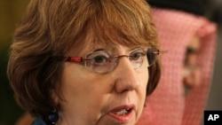 FILE - EU foreign policy chief Catherine Ashton