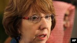 La jefa de la diplomacia de la Unión Europea, Catherine Aashton.