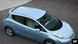 The Nissan Leaf all-electric vehicle goes on sale in late 2010.