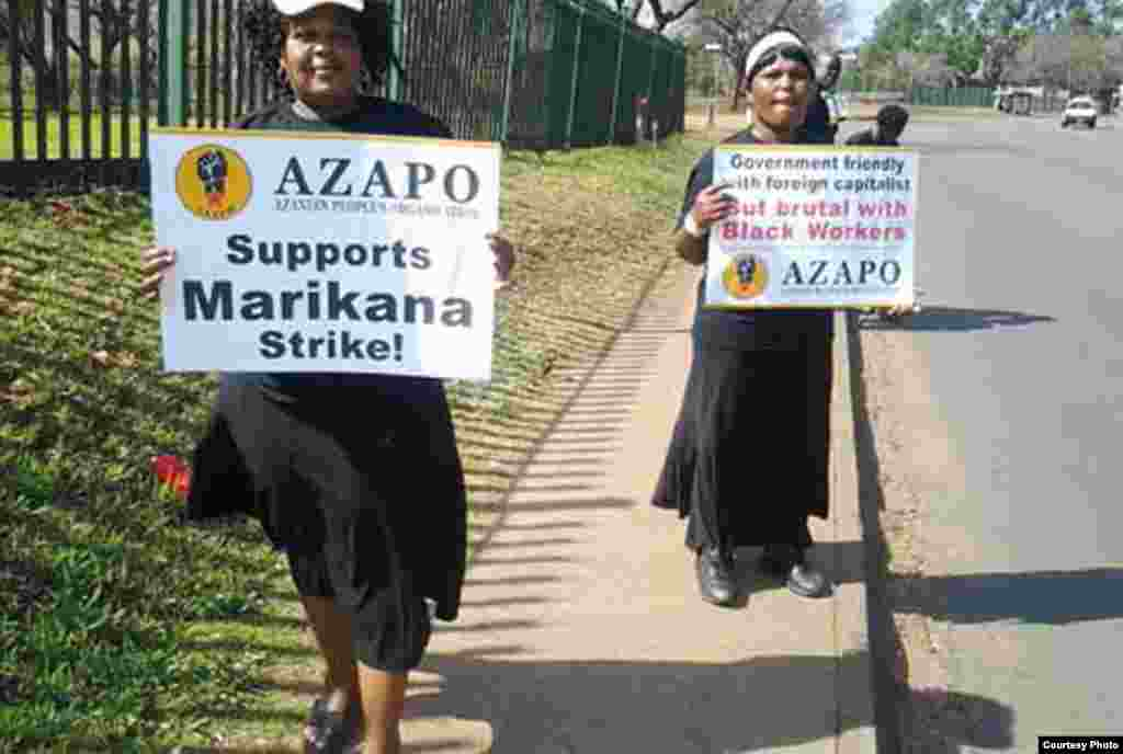 AZAPO frequently supports protests by striking workers and against capitalism. (Courtesy AZAPO)
