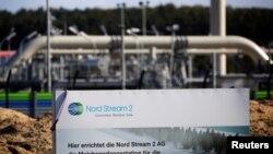 Pipa gas alam Nord Stream 2 di kota Lubmin, Jerman (foto: dok).