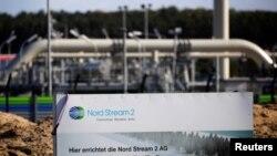 """Участок газопровода """"Северный поток – 2"""" в районе Любмина, Германия."""