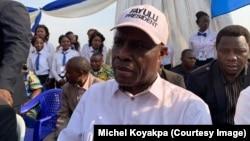 L'opposant Martin Fayulu lors d'un meeting à Butembo, Nord-Kivu, RDC, 15 février 2019. (Facebook/Michel Koyakpa)